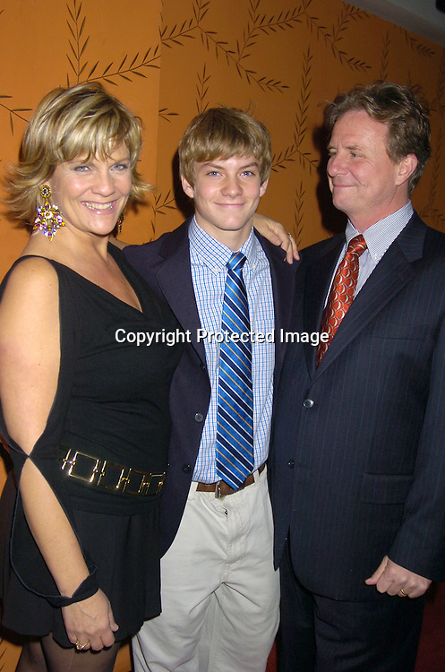 Kim Zimmer, son Jake Weary and AC Weary..at the Procter and Gamble Christmas Party at LQ on ..December 10, 2004. ..Photo by Robin Platzer, Twin Images
