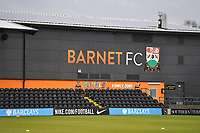 General view of the Hive Stadium  during Barnet vs Bromley, Vanarama National League Football at the Hive Stadium on 14th November 2020