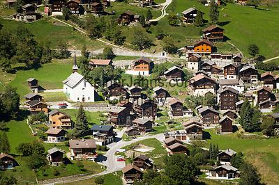 Switzerland, Canton Valais: Saint-Jean at Val d'Anniviers   Schweiz, Kanton Wallis: Saint-Jean im Val d'Anniviers (Eifischtal)