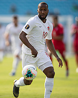 CHARLOTTE, NC - JUNE 23: Junior Hoilett #10 during a game between Cuba and Canada at Bank of America Stadium on June 23, 2019 in Charlotte, North Carolina.