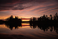 """Sunset on Suzanette Lake""<br />