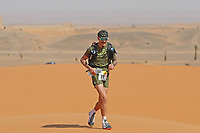 4th October 2021; Tisserdimine to Kourci Dial Zaid;  Marathon des Sables, stage 2 of  a six-day, 251 km ultramarathon, which is approximately the distance of six regular marathons. The longest single stage is 91 km long. This multiday race is held every year in southern Morocco, in the Sahara Desert. Geoffrey Plisson (FRA)