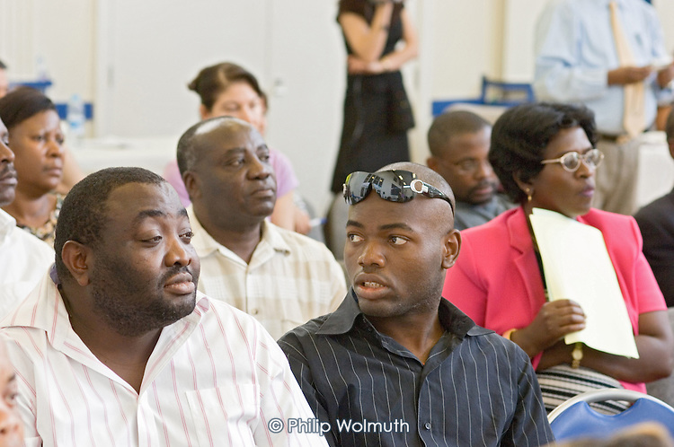 Members of a Congolese support group at a Hackney Refugee Forum event during Refugee Week.