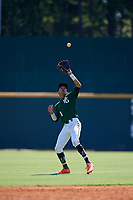 Justin Javier Colon Jaime (1) of Montverde Academy in Clermont, FL during the Perfect Game National Showcase at Hoover Metropolitan Stadium on June 19, 2020 in Hoover, Alabama. (Mike Janes/Four Seam Images)