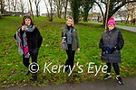 Enjoying a stroll in the Tralee town park on Thursday, l to r: Ann O'Neill, Orla Diffily and Fiona O'Shea