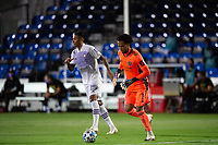 LAKE BUENA VISTA, FL - AUGUST 11: Pedro Gallese #1 of Orlando City SC dribbles the ball during a game between Orlando City SC and Portland Timbers at ESPN Wide World of Sports on August 11, 2020 in Lake Buena Vista, Florida.