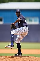 FCL Yankees pitcher Josue Panacual (25) during a game against the FCL Blue Jays on June 29, 2021 at the Yankees Minor League Complex in Tampa, Florida.  (Mike Janes/Four Seam Images)
