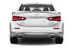 Straight rear view of a 2014 Infiniti Q50 Sedan