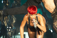 Singer Rihanna performs on stage during Rock in Rio Festival on June 5, 2010 in Arganda del Rey, Spain....Photo: Billy Chappel / ALFAQUI / Insidefoto