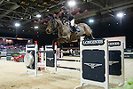 Jane Richard Philips on Dieudonne de Guldenboom competes during the Table A with Jump-off 145 - Airbus Trophy at the Longines Masters of Hong Kong on 20 February 2016 at the Asia World Expo in Hong Kong, China. Photo by Li Man Yuen / Power Sport Images