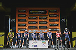 Alpecin Fenix at sign on before Stage 7 of the 2021 Tour de France, running 249.1km from Vierzon to Le Creusot, France. 2nd July 2021.  <br /> Picture: A.S.O./Pauline Ballet | Cyclefile<br /> <br /> All photos usage must carry mandatory copyright credit (© Cyclefile | A.S.O./Pauline Ballet)