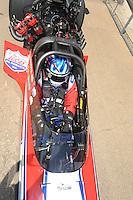 May 21, 2011; Topeka, KS, USA: NHRA top fuel dragster driver Shawn Langdon during the Summer Nationals at Heartland Park Topeka. Mandatory Credit: Mark J. Rebilas-
