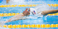 01 AUG 2012 - LONDON, GBR - Ryan Lochte (USA) of the USA races during his men's 200m Backstroke heat during the morning session of the London 2012 Olympic Games Swimming at the Aquatic Centre in the Olympic Park, in Stratford, London, Great Britain .(PHOTO (C) 2012 NIGEL FARROW)