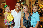 David and Cathy Herr with their children Hudson and Lauren at the University of Texas M.D. Anderson Cancer Center and The Galleria's Back to School Fashion Show benefitting pediatric cancer patients at The Galleria Saturday August 25,2012.(Dave Rossman Photo)