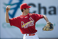 Robert Stock #35 of the Johnson City Cardinals at Howard Johnson Stadium June 27, 2009 in Johnson City, Tennessee. (Photo by Brian Westerholt / Four Seam Images)