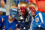 St Johnstone v Eskisehirspor...26.07.12  Europa League Qualifyer.Young saints fans happy.Picture by Graeme Hart..Copyright Perthshire Picture Agency.Tel: 01738 623350  Mobile: 07990 594431