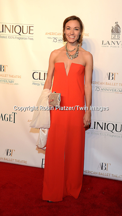 Sarah Smith attends the Opening Night of American Ballet Theatre 2014 Fall Gala on October 22,2014 at the David Koch Theater at Lincoln Center in New York City. <br /> <br /> photo by Robin Platzer/Twin Images<br />  <br /> phone number 212-935-0770