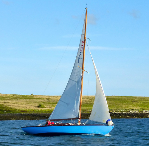Glen Class in Strangford Lough. With two reefs in the main and the working (and only) jib set, a sister-ship proved to be a very able seaboat on passage from Strangford Lough to Dublin Bay in a brisk southeaster. Photo: W M Nixon