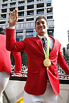 Matthew Baker (JPN), OCTOBER 7, 2016 : Japanese medalists of Rio 2016 Olympic and Paralympic Games wave to spectators during a parade from Ginza to Nihonbashi, Tokyo, Japan. (Photo by AFLO SPORT)