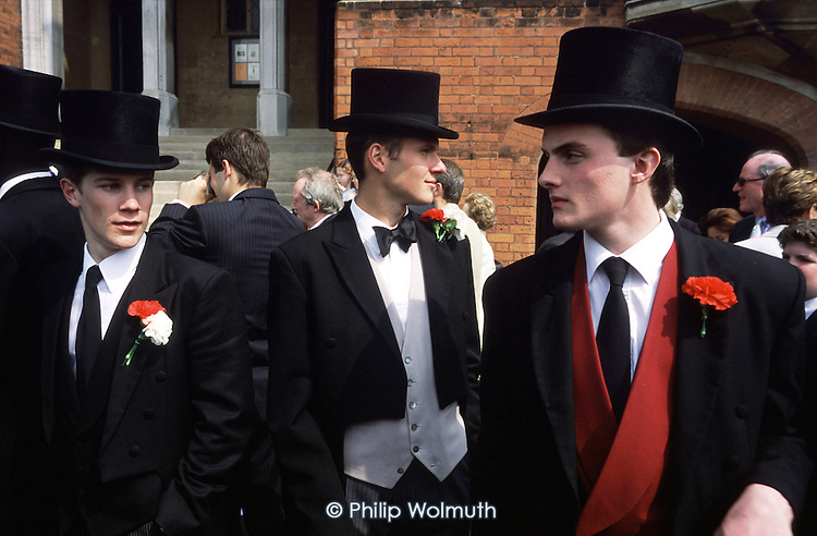 Senior pupils supervise at the School Bill parade during the annual Speech Day at Harrow School