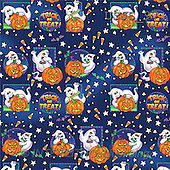 Janet, GIFT WRAPS, paintings, Ghosts Pattern(USJS97,#GP#) everyday