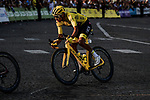 Yellow Jersey Egan Bernal (COL) Team Ineos enters Place de la Concorde during Stage 21 of the 2019 Tour de France running 128km from Rambouillet to Paris Champs-Elysees, France. 28th July 2019.<br /> Picture: ASO/Pauline Ballet   Cyclefile<br /> All photos usage must carry mandatory copyright credit (© Cyclefile   ASO/Pauline Ballet)