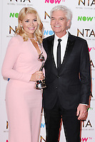 Holly Willoughby and Phillip Schofield<br /> in the winners room at the National TV Awards 2017 held at the O2 Arena, Greenwich, London.<br /> <br /> <br /> ©Ash Knotek  D3221  25/01/2017
