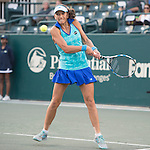 Chanelle Scheepers (RSA) loses to Andrea Petkovic (GER) 1-6, 6-1, 6-2 at the Family Circle Cup in Charleston, South Carolina on April 7, 2015.