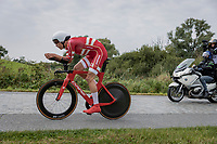 Johan Price Pejtersen (DEN/Uno-X Pro Cycling Team)<br /> <br /> 88th UCI Road World Championships 2021 – ITT (WC)<br /> Men's U23 Time trial from Knokke-Heist to Brugge (30.3km)<br /> <br /> ©Kramon