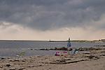 Harwichport Beach, dark clouds.<br /> Harwichport, MA