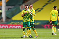 1st May 2021; Carrow Road, Norwich, Norfolk, England, English Football League Championship Football, Norwich versus Reading; Xavi Quintilla of Norwich City celebrates his goal for 3-1  in the 78th minute