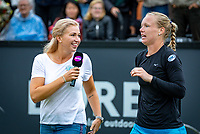 Den Bosch, Netherlands, 12 June, 2018, Tennis, Libema Open, Kiki Bertens (NED) is interviewd by Michaela Krajicek (NED)<br /> Photo: Henk Koster/tennisimages.com