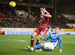 Aberdeen v St Johnstone…10.12.16     Pittodrie    SPFL<br />David Wotherspoon is blocked by Anthony O'Connor<br />Picture by Graeme Hart.<br />Copyright Perthshire Picture Agency<br />Tel: 01738 623350  Mobile: 07990 594431