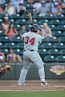 Jordan Procyshen (34) of the Salem Red Sox at bat against the Winston-Salem Dash at BB&T Ballpark on June 16, 2016 in Winston-Salem, North Carolina.  The Dash defeated the Red Sox 7-1.  (Brian Westerholt/Four Seam Images)