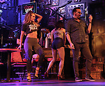 """Katie Webber and Matt Ban during the tech rehearsal for """"Rock of Ages"""" 10th Anniversary Production on June 13, 2019 at the New World Stages in New York City."""