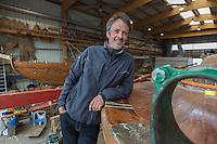 France, Bretagne, (29), Finistère, Brest:  Chantier du Guip restauration et la construction de bateaux en bois : bateaux du patrimoine, Louis Mauffret //  France, Brittany, Finistere, Brest: Guip Shipyard, building and restoration of wooden historic vessels,