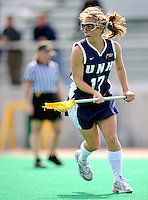 9 April 2008: University of New Hampshire Wildcats' Attackman Ashley Durepo, a Junior from Concord, NH, in action against the University of Vermont Catamounts at Moulton Winder Field, in Burlington, Vermont. The Catamounts rallied to defeat the visiting Wildcats 9-8 in America East divisional play...Mandatory Photo Credit: Ed Wolfstein Photo