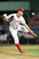 Reading Phillies pitcher Jay Johnson #30 during a game against the New Hampshire Fisher Cats at FirstEnergy Stadium on April 10, 2012 in Reading, Pennsylvania.  New Hampshire defeated Reading 3-2.  (Mike Janes/Four Seam Images)