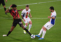 15th September 2020; Vitality Stadium, Bournemouth, Dorset, England; English Football League Cup, Carabao Cup Football, Bournemouth Athletic versus Crystal Palace; Philip Billing of Bournemouth competes for the ball with Luka Milivojevic of Crystal Palace
