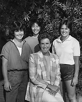 1987: Stanford Field Hockey Asst. Coaches: (L to R): Andi Wolpert, Suzanne Doi, Megan Donnelly, Noelle Mitchell.