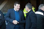 St Johnstone v Ross County… McDiarmid Park..     SPFL<br />Tommy Wright and Jim McIntyre before kick off<br />Picture by Graeme Hart.<br />Copyright Perthshire Picture Agency<br />Tel: 01738 623350  Mobile: 07990 594431