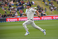 NZ's Neil Wagner chases a ball in the outfield during day three of the second International Test Cricket match between the New Zealand Black Caps and West Indies at the Basin Reserve in Wellington, New Zealand on Sunday, 13 December 2020. Photo: Dave Lintott / lintottphoto.co.nz