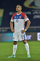 2nd July 2021; Nilton Santos Stadium, Rio de Janeiro, Brazil; Copa America, Brazil versus Chile; Alexis Sánchez of Chile as the match starts