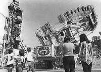 Rides at CNE (Canadian National Exhibition)<br /> <br /> Photo : Boris Spremo - Toronto Star archives - AQP