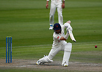 28th May 2021; Emirates Old Trafford, Manchester, Lancashire, England; County Championship Cricket, Lancashire versus Yorkshire, Day 2; Josh Bohannon of Lancashire hits a straight drive