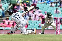 9th January 2021; Sydney Cricket Ground, Sydney, New South Wales, Australia; International Test Cricket, Third Test Day Three, Australia versus India; Manish Pandey of India hits a shot as Matthew Wade of Australia takes evasive action