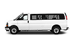 Car Driver side profile view of a 2018 GMC Savana-Passenger 3500-LS-Ext 5 Door Passenger Van Side View