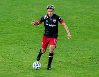 WASHINGTON, DC - NOVEMBER 8: Yamil Asad #11 of D.C. United passes the ball during a game between Montreal Impact and D.C. United at Audi Field on November 8, 2020 in Washington, DC.