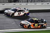 #95: Christopher Bell, Leavine Family Racing, Toyota Camry Procore and #11: Denny Hamlin, Joe Gibbs Racing, Toyota Camry FedEx Express