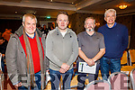 Attending the Coiste na nÓg Chiarraí AGM in the Rose Hotel on Tuesday night.<br /> L to r: Terry Boyle and Joe Costello (St Pats Blennerville) with Pat Conway and Sean O'Connor from Currow GAA.